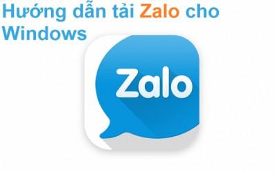 Hướng dẫn cách tải, cài đặt và nhắn tin Zalo trên Laptop, Pc